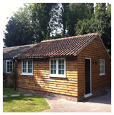 Timber Framed Music studio extension. Stragglethorpe, Lincolnshire